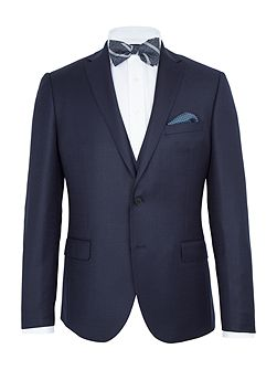 Burrell Basketweave Slim Suit Jacket
