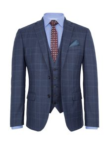 Paul Costelloe Carting Check Slim-Fit Three Piece Suit