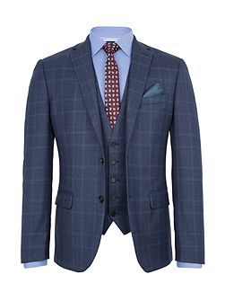 Carting Check Slim-Fit Two Piece Suit