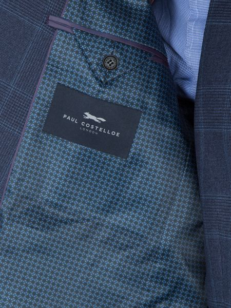 Paul Costelloe Carting Check Slim-Fit Two Piece Suit