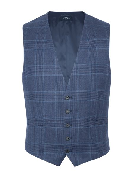 Paul Costelloe Carting Check Slim-Fit Suit Waistcoat