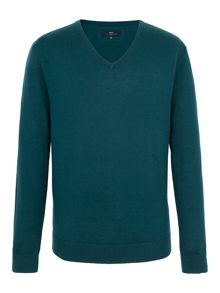 Paul Costelloe Mansion V Neck Merino Jumper