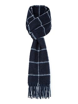 Lahne Windowpane Check Lambswool Scarf