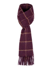 Baumler Lahne Windowpane Check Lambswool Scarf