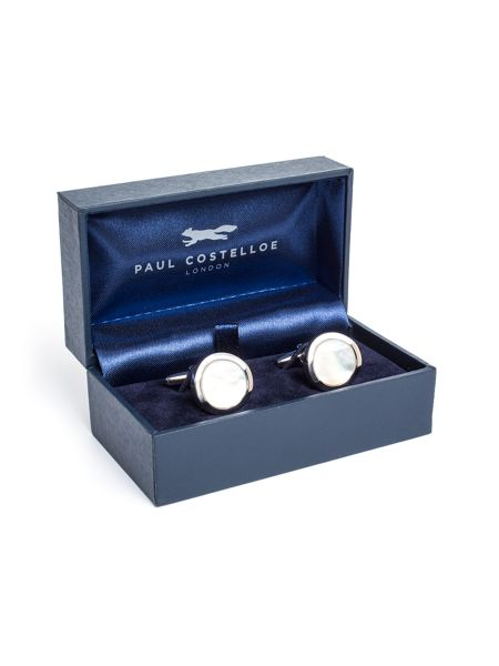Paul Costelloe Bull Mother Of Pearl Cufflinks