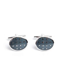 Exeter Oval Spot Cufflinks