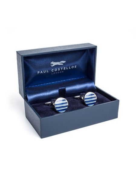Paul Costelloe Kentish Enamel Stripe Cufflinks