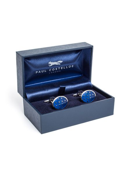 Paul Costelloe Exeter Oval Spot Cufflinks