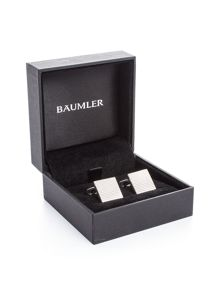 Baumler Till Silver Plated Textured Cufflinks