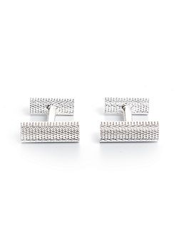 Bruno Silver Plated Barrel Cufflinks