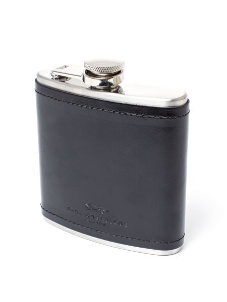Paul Costelloe Hadley Leather Wrapped Hip Flask