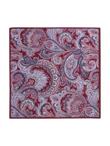 Paul Costelloe Portland Paisley Wool Pocket Square