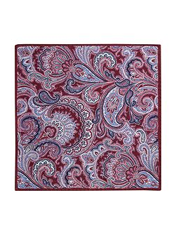 Portland Paisley Wool Pocket Square