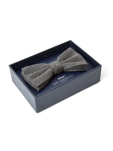 Paul Costelloe Warren Herringbone Wool-Blend Bow Tie