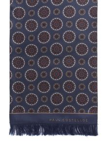 Paul Costelloe Lavington Retro Motif Silk Dress Scarf
