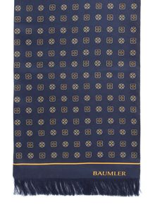 Baumler Dieter Geometric Print Silk Dress Scarf