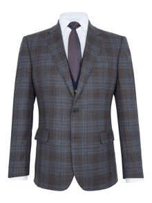 Paul Costelloe Mallory Checked Wool Slim-Fit Blazer