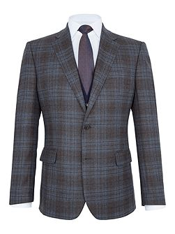 Mallory Checked Wool Slim-Fit Blazer