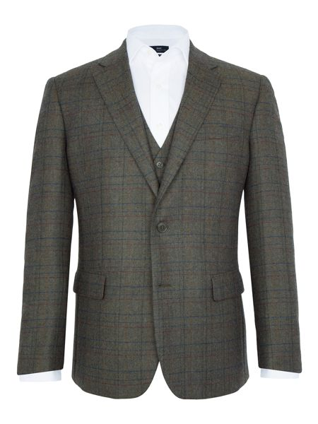Paul Costelloe Stoney Overcheck Wool Blazer