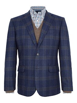Tower Checked Wool-Blend Slim-Fit Blazer