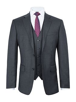 Wade Wool Sharkskin Three Piece Suit