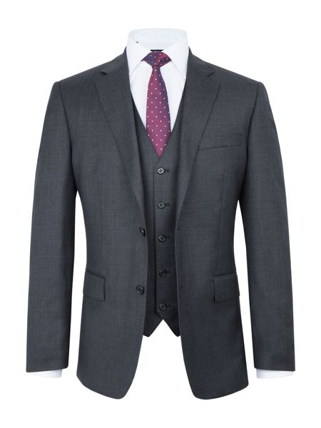 Paul Costelloe Wade Wool Sharkskin Three Piece Suit