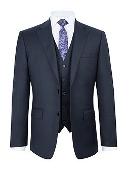 Walham Wool Sharkskin Three Piece Suit