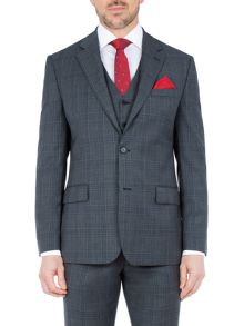 Paul Costelloe Barnet Wool Check Suit Jacket