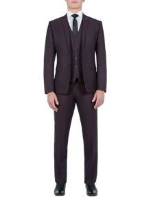 Lambretta Jacquard Slim-Fit Three Piece Suit