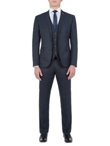 Lambretta Check Slim-Fit Three Piece Suit
