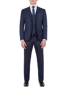 Lambretta Textured Slim-Fit Three Piece Suit