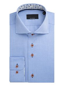 Baumler Elbe Textured Weave Cotton Shirt