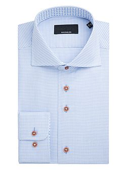 Neckar Houndstooth Cotton Shirt
