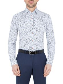 Baumler Moselle Flower Print Cotton Shirt