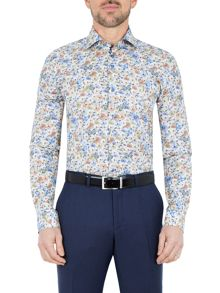 Baumler Havel Flower Print Cotton Shirt