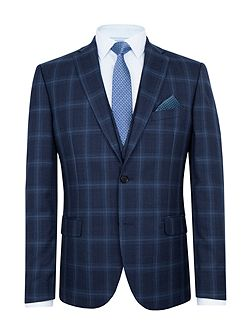 Sutton Slim Fit Wool Check Suit Jacket