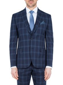 Paul Costelloe Sutton Slim Fit Wool Check Suit Jacket