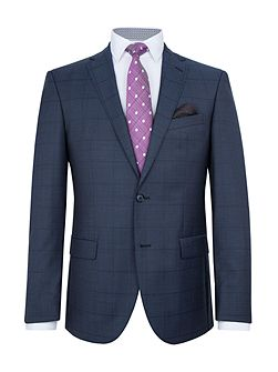 Holstein Slim-Fit Checked Wool Suit
