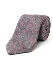 Paul Costelloe Marsh Micro Wool & Silk Floral Tie
