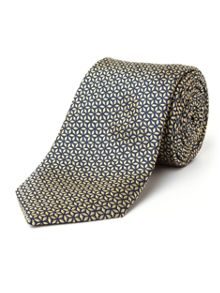 Paul Costelloe Falcon Floral Geo Silk Tie