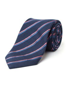 Paul Costelloe Holbein Stripe Wool & Silk Tie