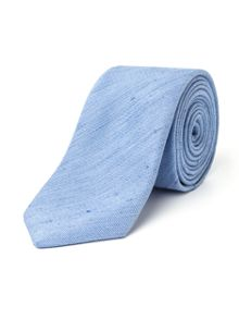 Paul Costelloe Lisle Skinny Silk Linen Semi Plain Tie