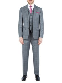 Paul Costelloe Waltham Windowpane Wool Check Suit