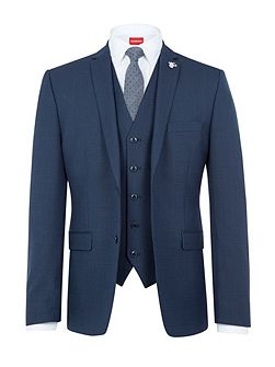 Textured Slim-Fit Three Piece Suit