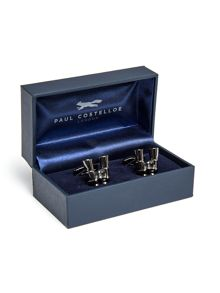Paul Costelloe Welland Gunmetal Binoculars Cufflinks