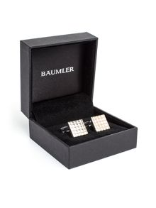 Baumler Timo Textured Silver Plated Cufflinks
