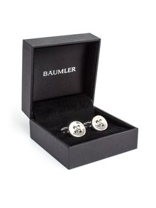 Baumler Poldi Silver Plated Button Cufflinks