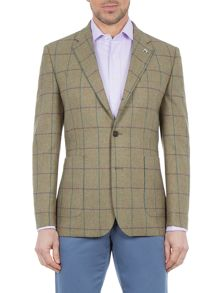 Paul Costelloe Harp Twill Windowpane Check Blazer
