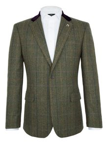 Paul Costelloe Rupert Herringbone Check Blazer