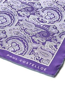 Paul Costelloe Farringdon Floral Paisley Pocket Square